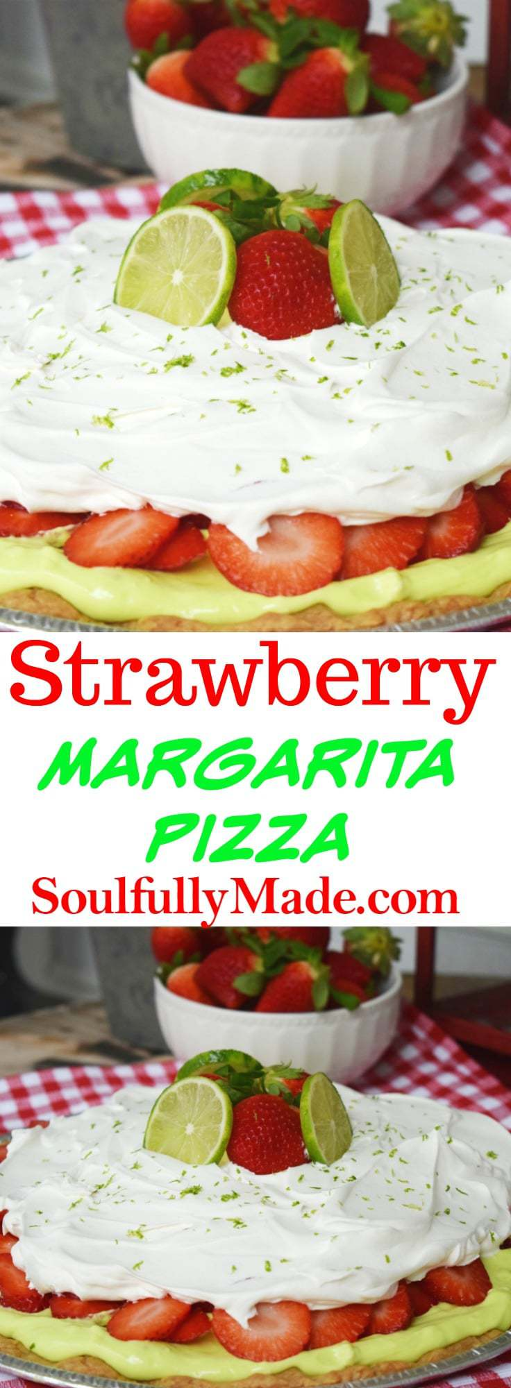 Strawberry Margarita Pizza Pinterest Image