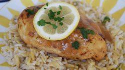 Instant Pot Lemon and Garlic Glazed Chicken