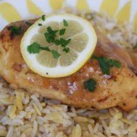 Instant Pot Lemon and Garlic Glazed Chicken