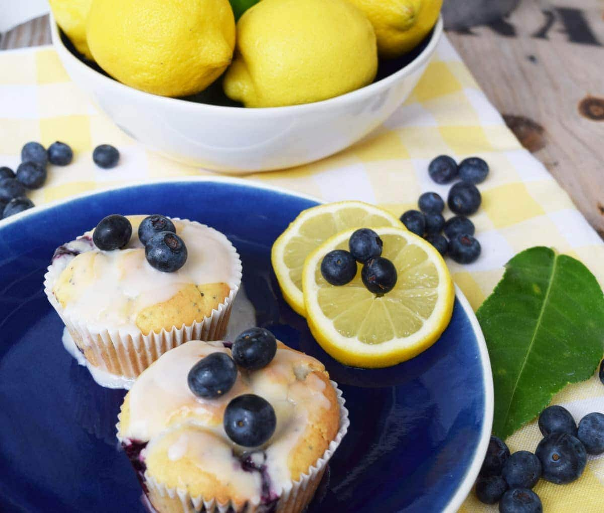 Lemon & Blueberry Poppy Seed Muffins