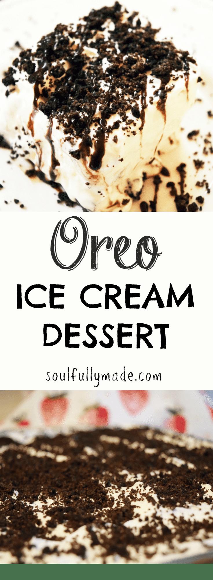 Oreo Ice Cream Dessert.