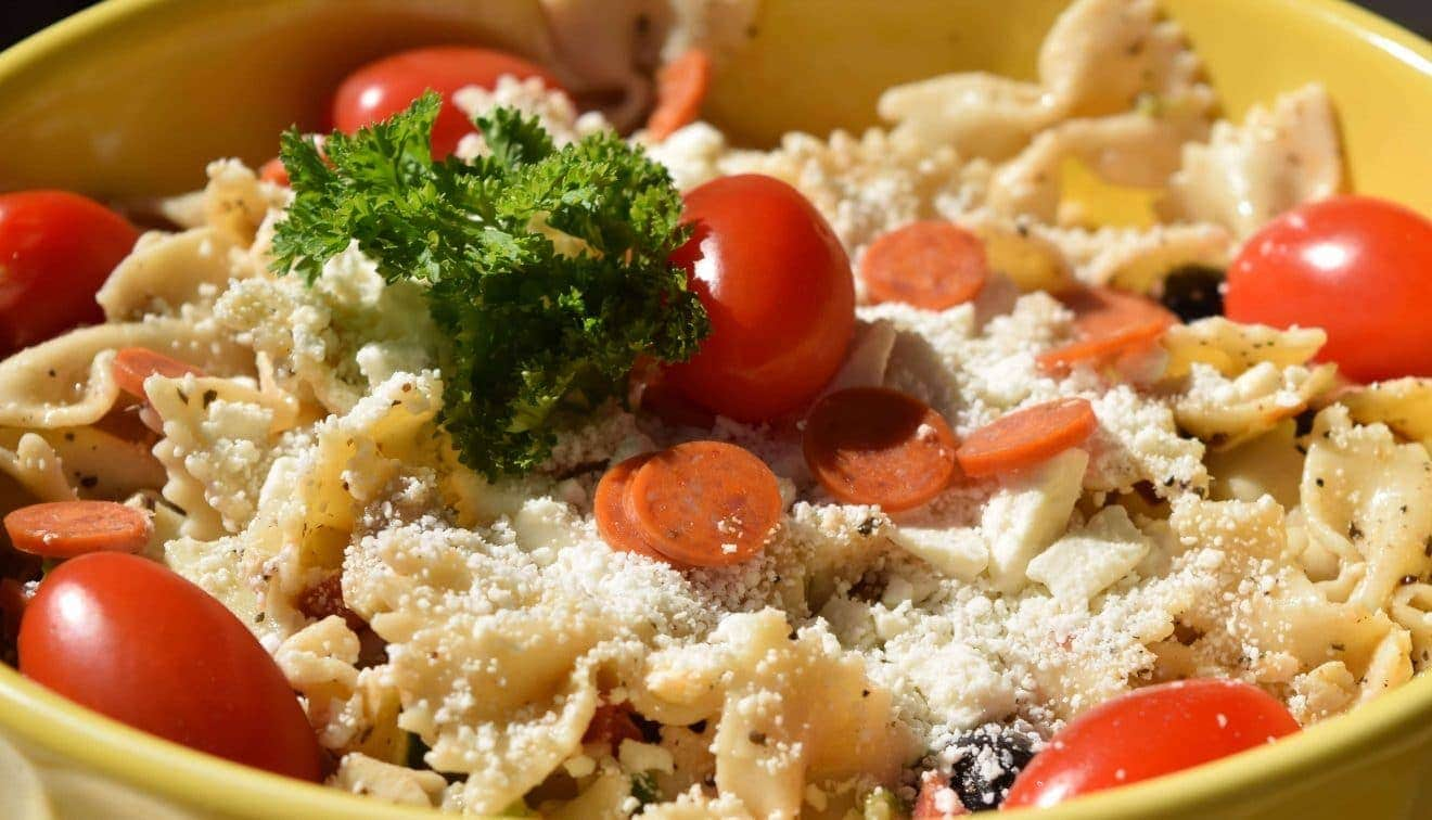 Pasta Salad with Artichoke Hearts and Feta