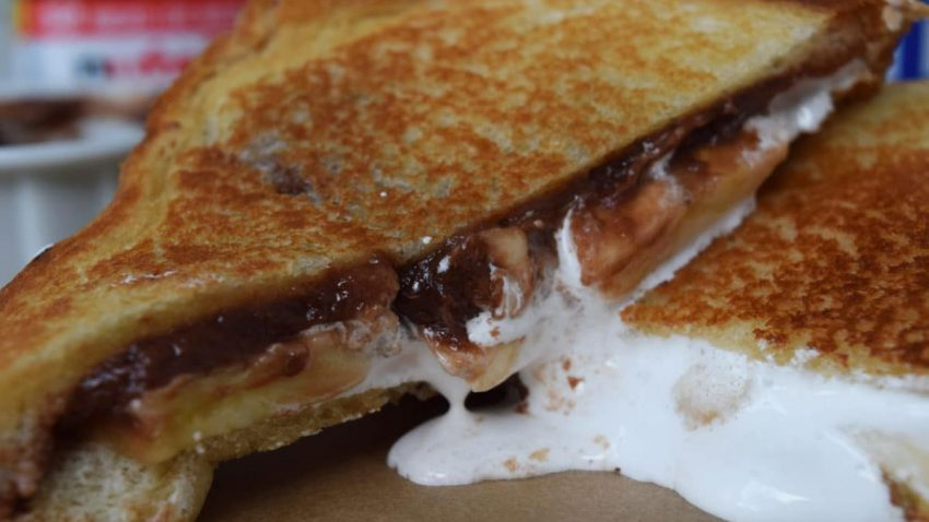Banana FluffaNutella Grilled Cheese