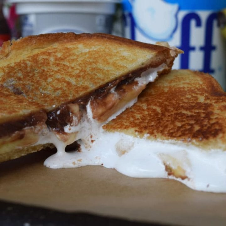 Banana FluffaNutter Grilled Cheese Pic