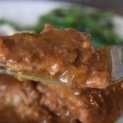 Bite of Country Steak with Gravy