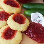 Cheesy Thumbprint Jam Cookies