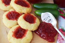 Cheesy Thumbrint Jam Cookies