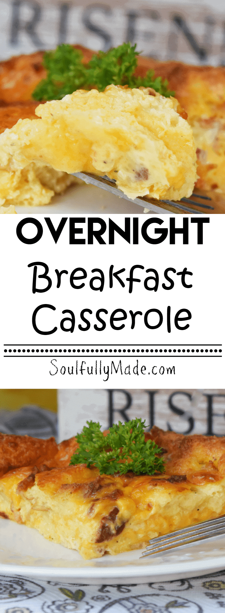 Overnight Breakfast Casserole Pin