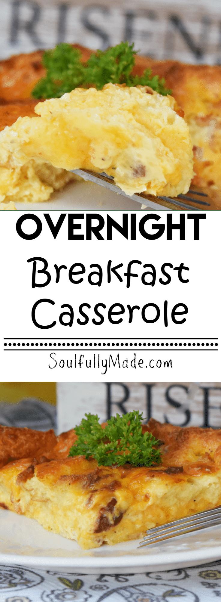 Overnight Breakfast Casserole Pin