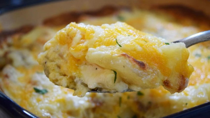 A Bite of Au Gratin Potatoes