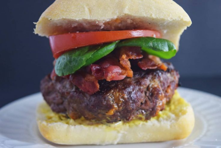 Stuffed Bacon and Cheddar Burgers