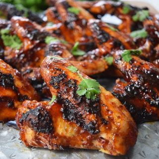 Honey Chipotle BBQ Wings #SundaySupper