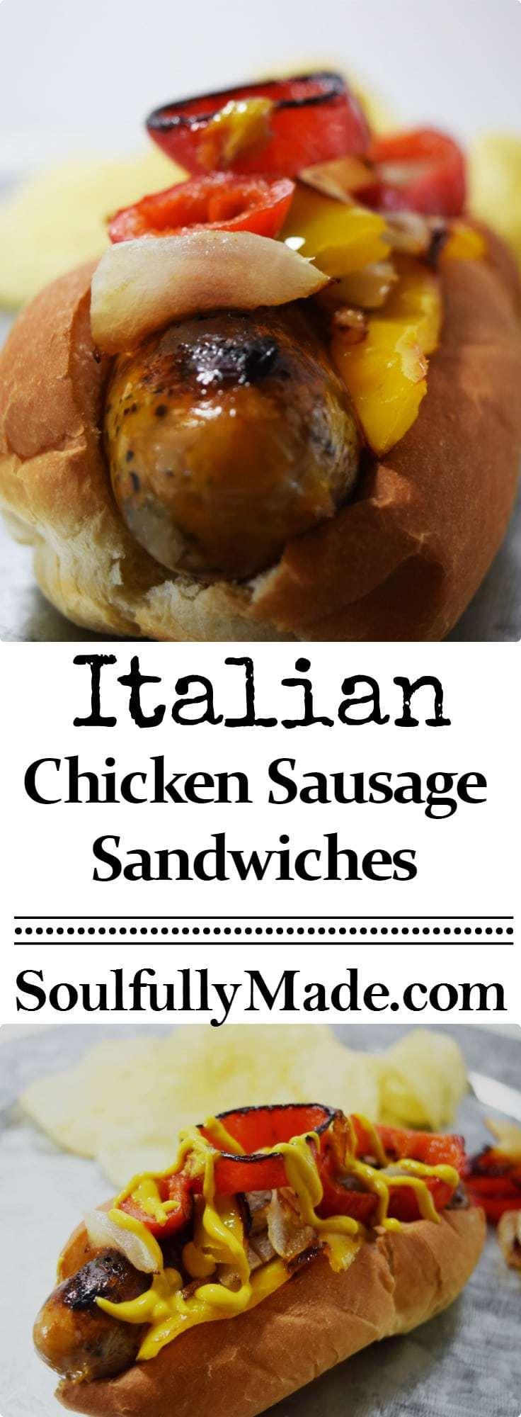 Italian Chicken Sausage Sandwich Pin