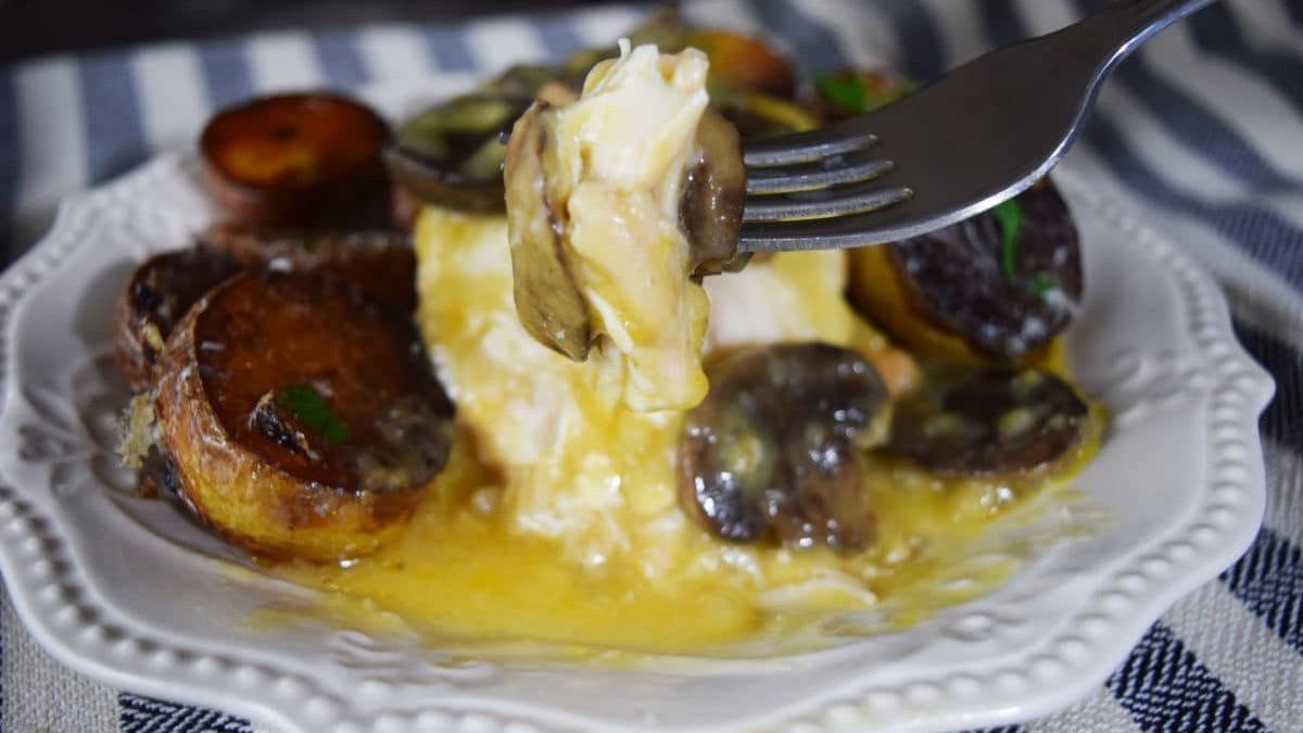 A Bite of Muenster & Mushroom Chicken