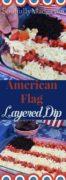 American Flag Layered Dip