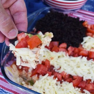 American Flag Layered Dip | #Sunday Supper