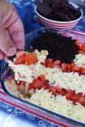 American Flag Layered Dip