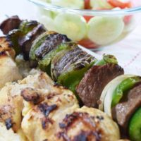 Chicken and Steak Kabobs