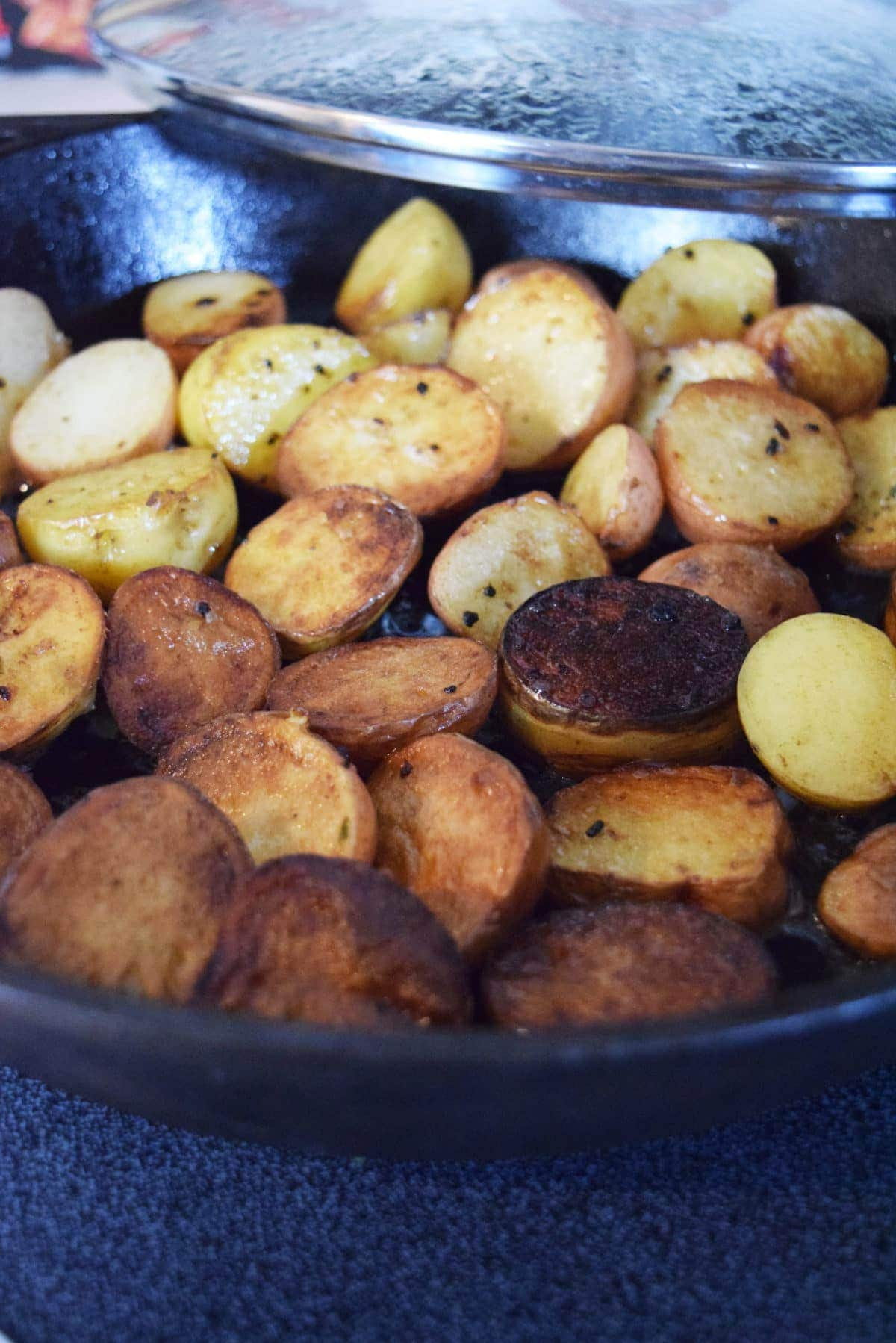 Cook Potatoes with Lid On