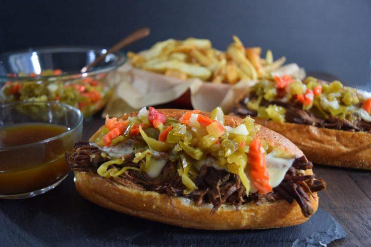 Crock Pot Italian Beef Sandwich