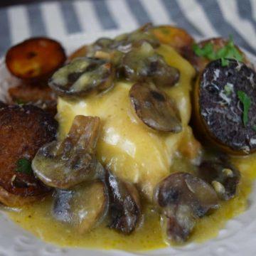 Crock Pot Muenster & Mushroom Chicken