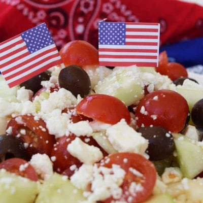 Cucumber Tomato Feta & Olive Salad
