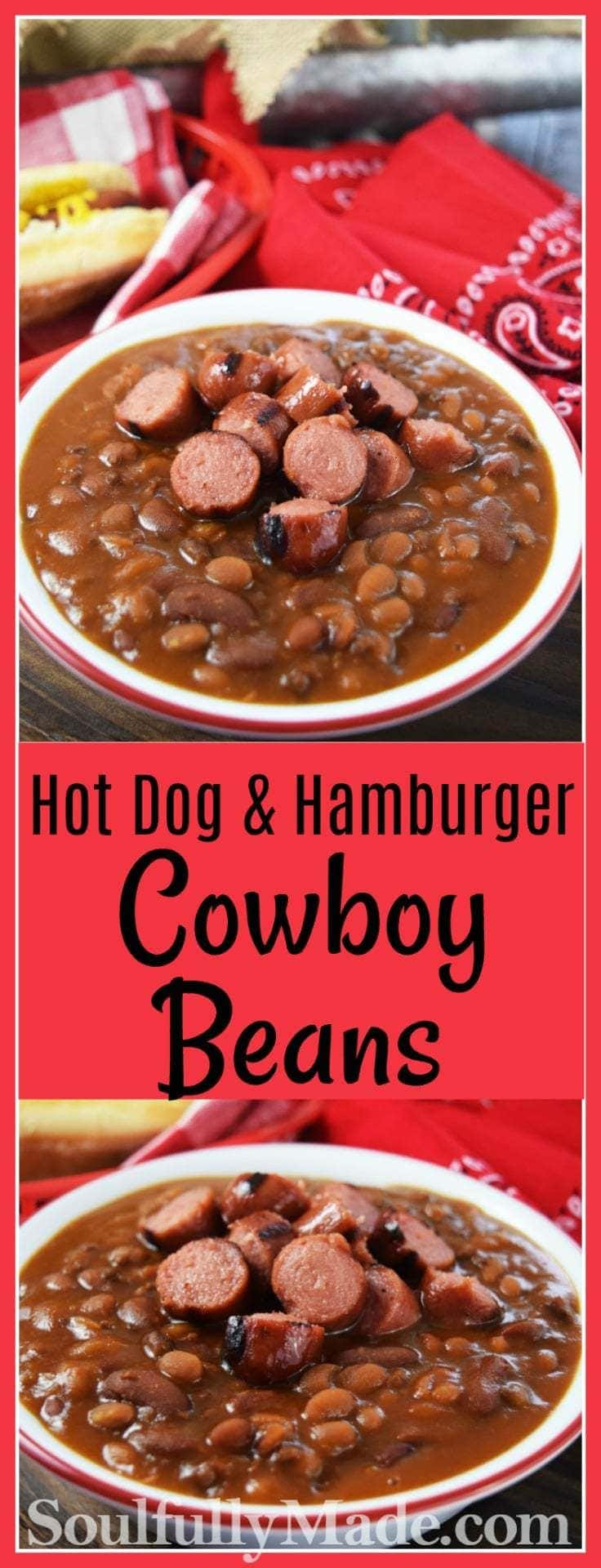 hot dog and hamburger cowboy beans sundaysupper soulfully made. Black Bedroom Furniture Sets. Home Design Ideas
