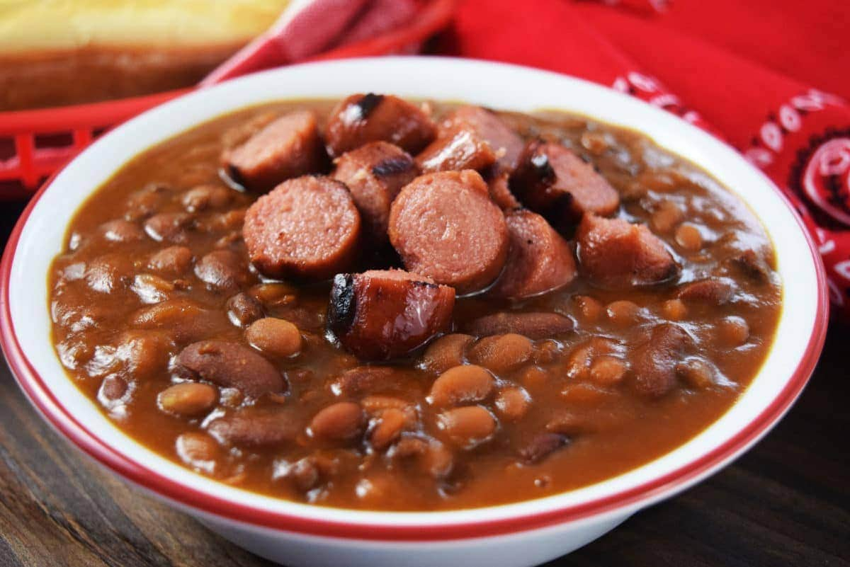 Hot Dog And Hamburger Cowboy Beans Soulfully Made