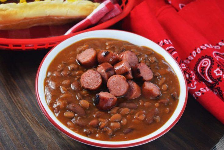 Hot Dog and Hamburger Cowboy Beans