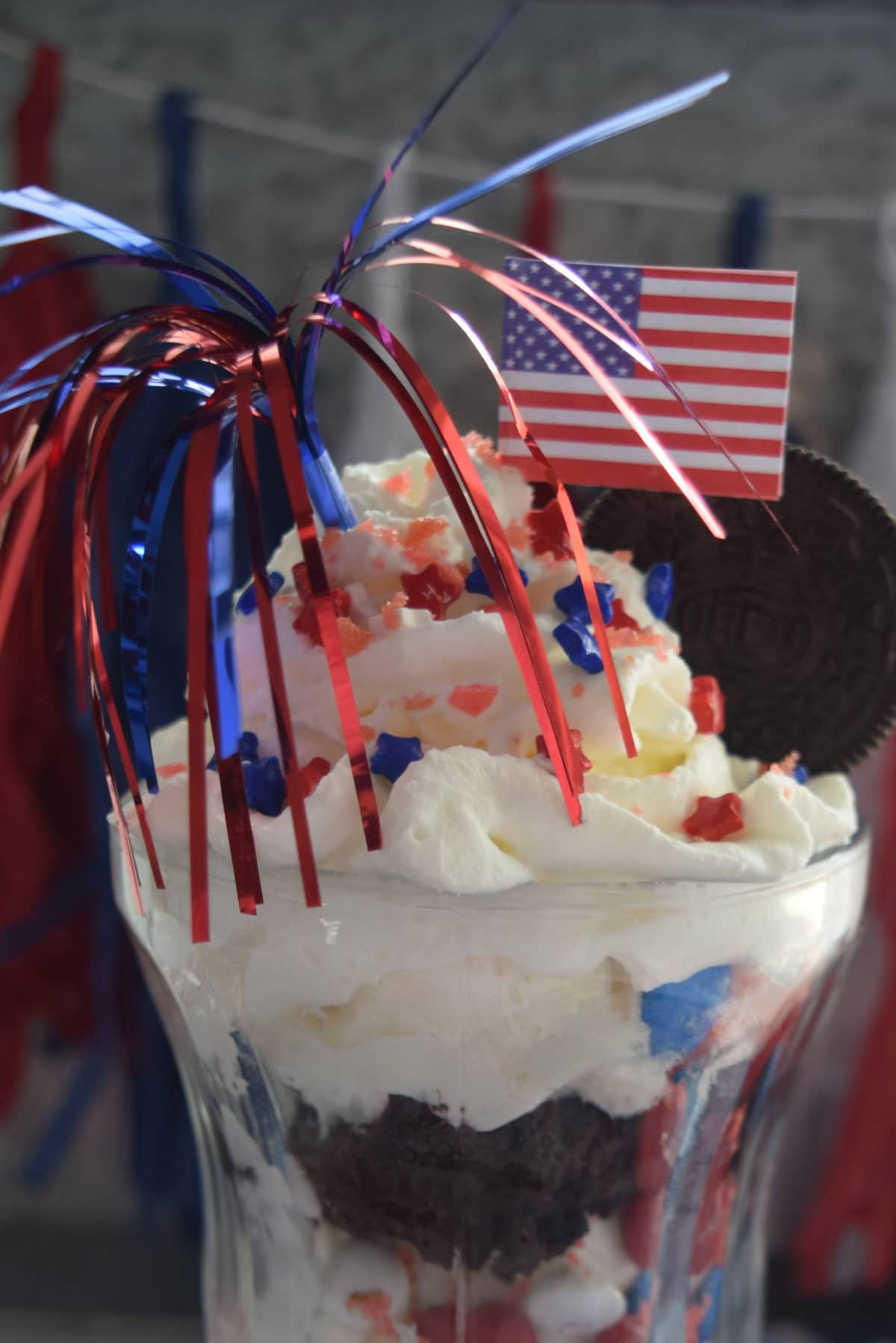 Red White & Blue Brownie Sundaes