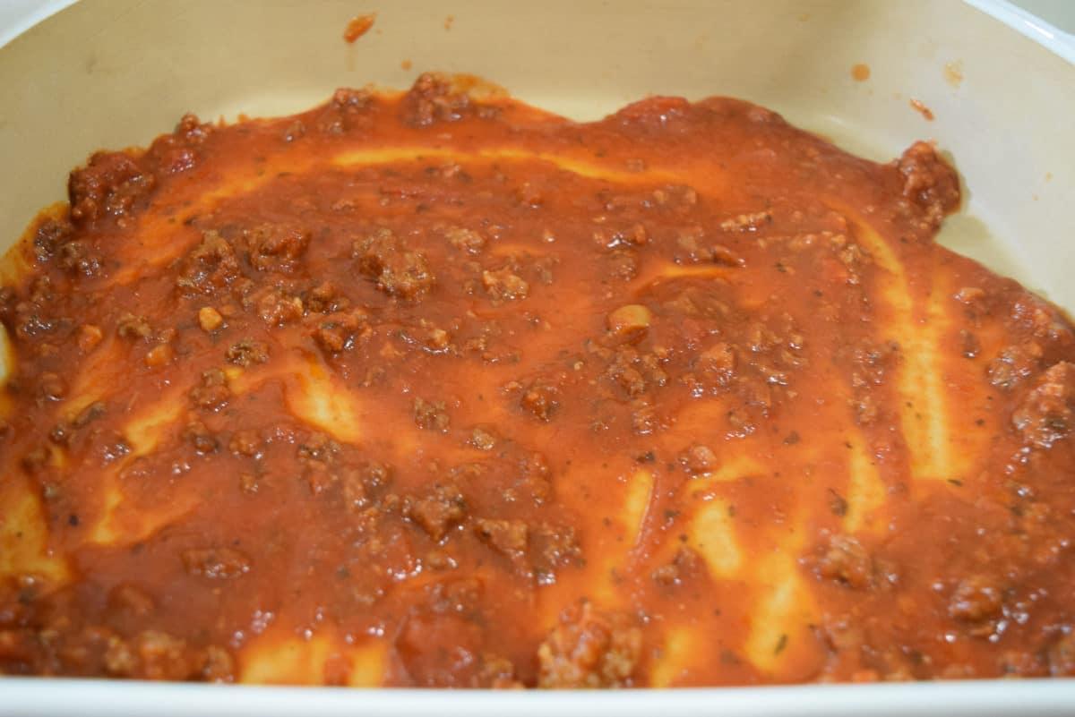 Bottom Layer of Lasagna Pan