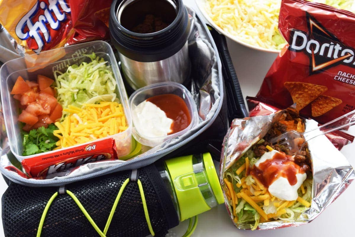Lunch Box Walking Tacos
