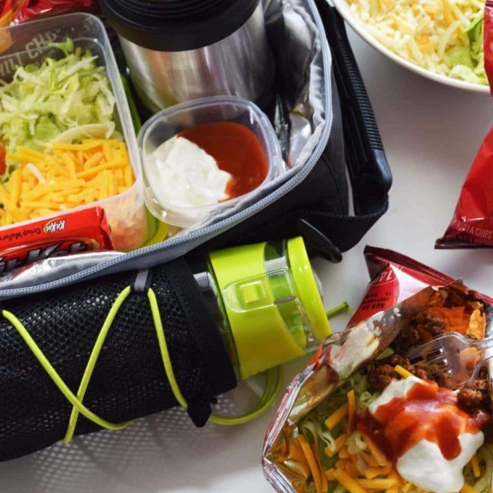 School Lunch Box Walking Tacos