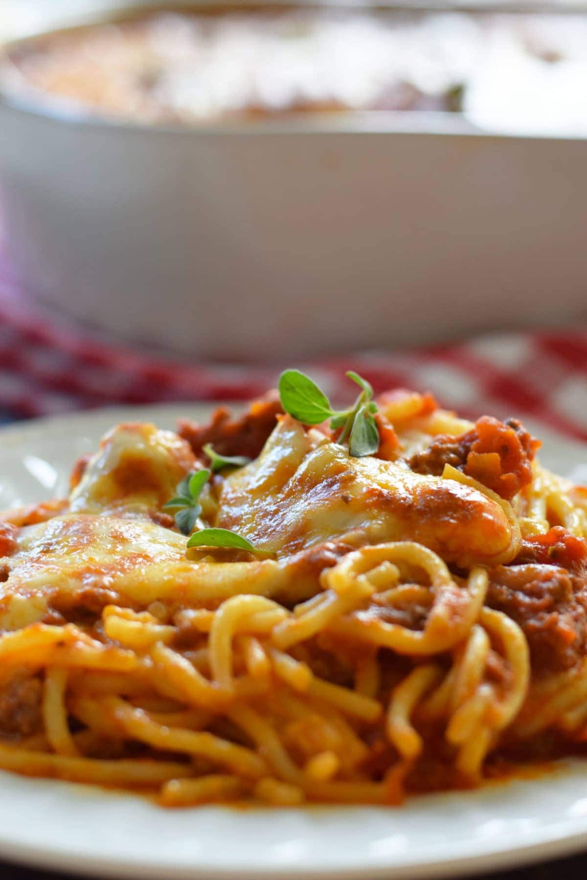Ultimate Baked Spaghetti
