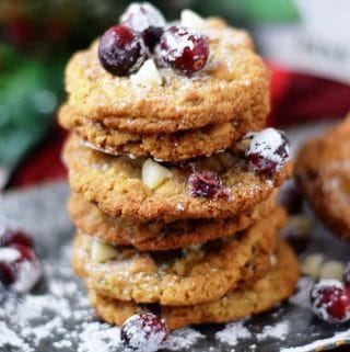 Candied Cranberry Walnut Oatmeal Cookies | #SundaySupper