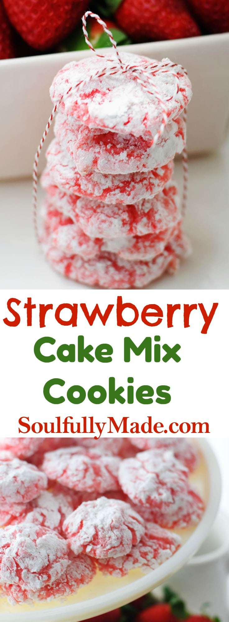 make wedding cake from box mix strawberry cake mix cookies soulfully made 16997