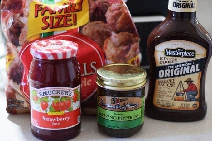 Strawberry Jalapeno BBQ Meatball Ingredients