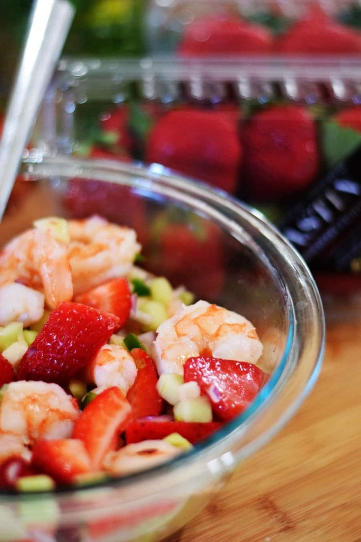 Strawberry Shrimp Ceviche Cocktail