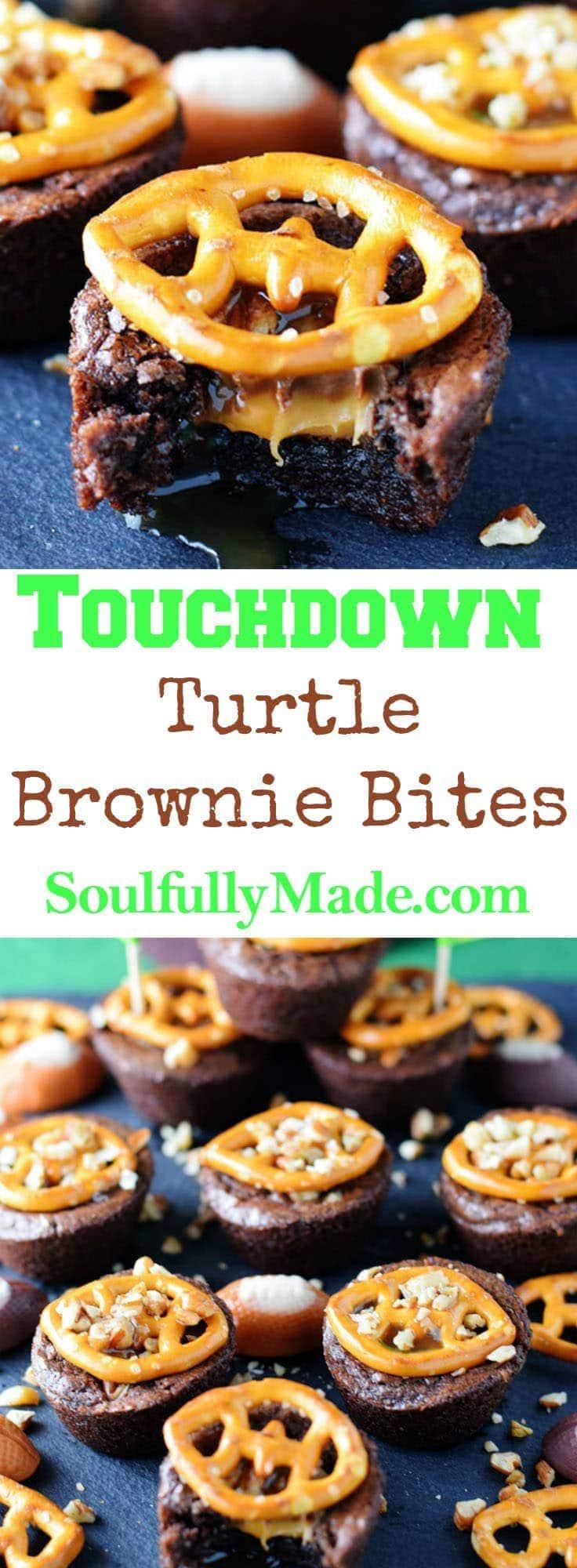 Touchdown Turtle Brownie Bites