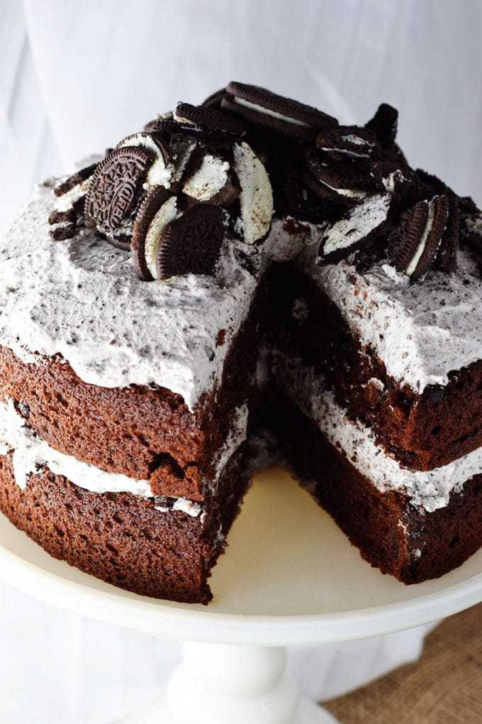 Chocolate Cake with Whipped Oreo Icing