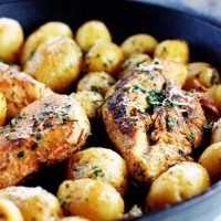 Skillet Lemon Chicken and Potatoes