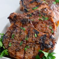 Grilled Sweet and Spicy Mustard Pork Chops