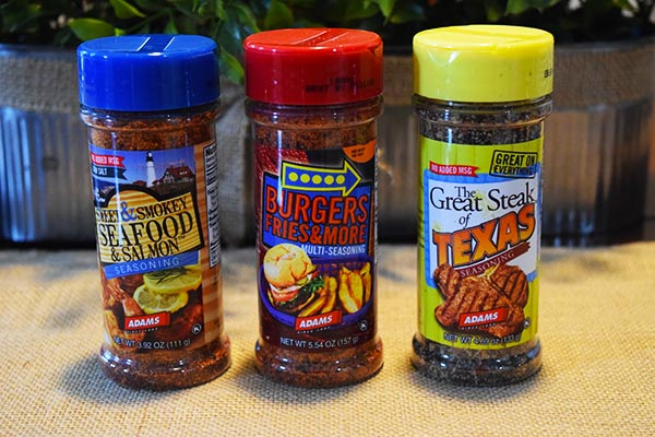 Adams Seafood, Steak and Burger Seasonings
