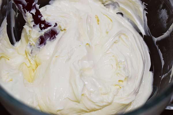 No Bake Cheesecake Filling in Mixing Bowl
