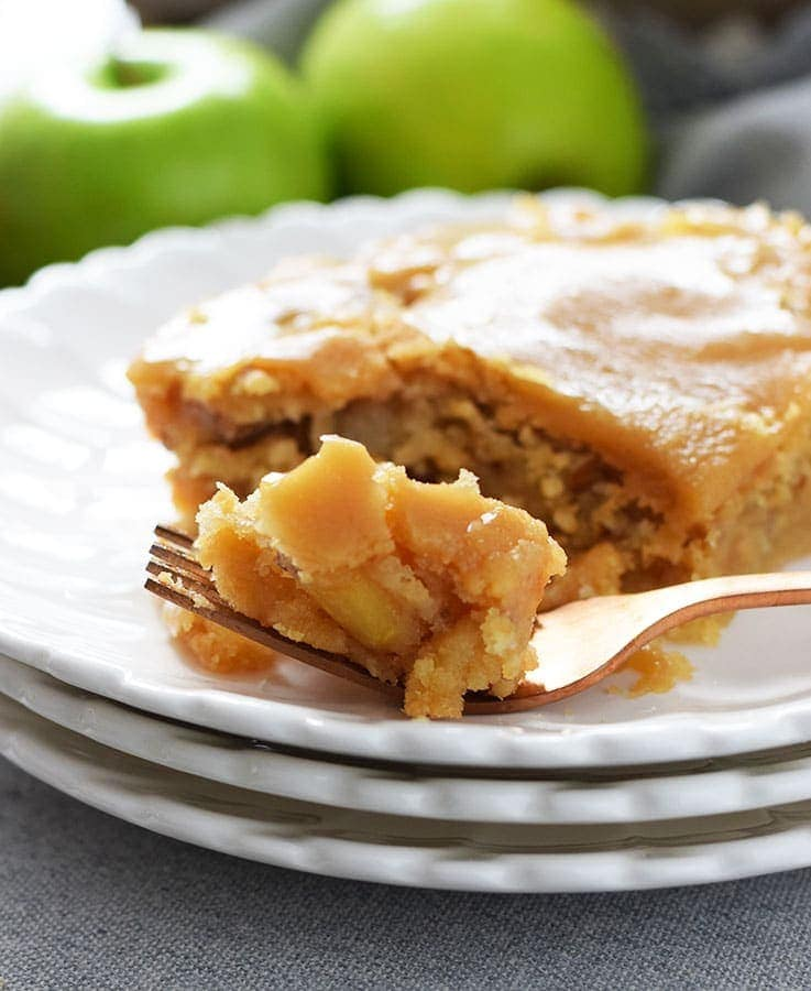 Fresh Apple Cake With Brown Sugar Glaze Soulfully Made