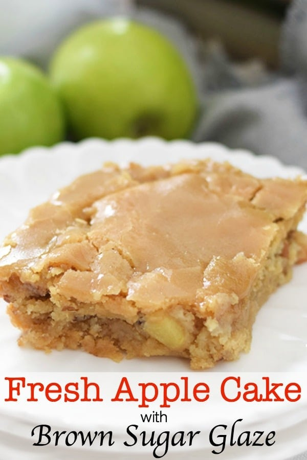 resh Apple Cake with Brown Sugar Glaze Pinterest