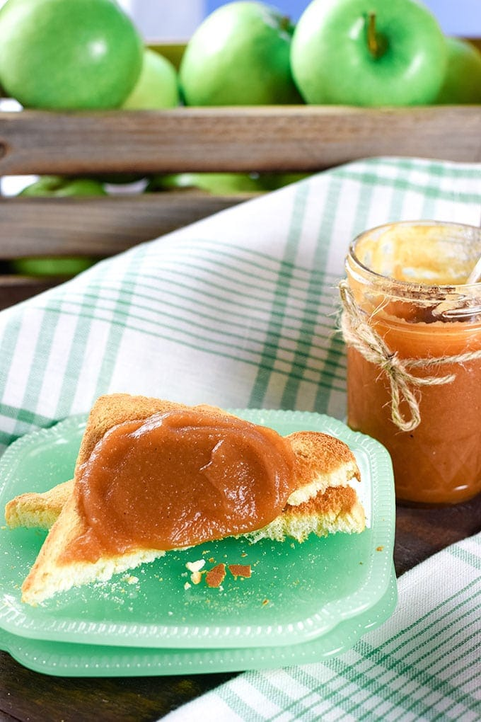 Instant Pot Apple Butter on Toast