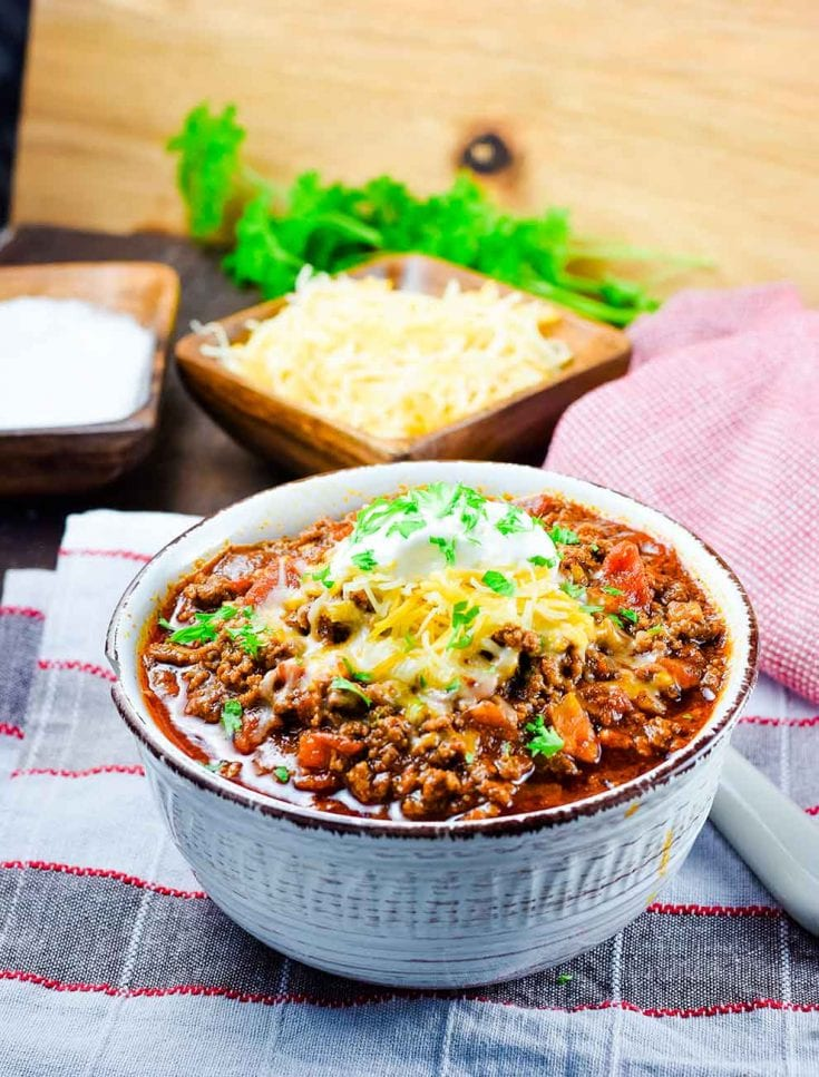 Keto Low Carb Beef Chili Instant Pot Or Crock Pot Recipe Soulfully Made