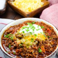 Keto Low Carb Beef Chili Recipe - Instant Pot and Crock Pot