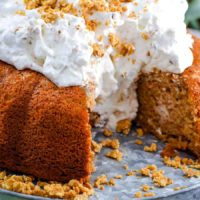 Easy Carrot Cake With Whipped Cream Icing Soulfully Made